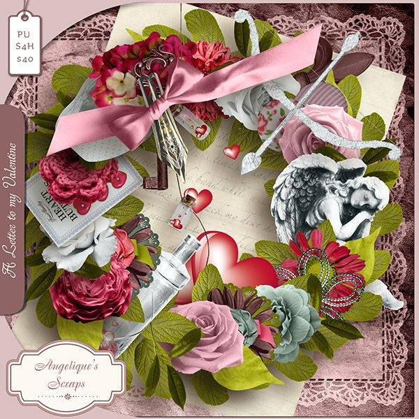 **NEW** A Letter To My Valentine by Angelique's Scraps  Available @ http://www.pixelsandartdesign.com/store/index.php?main_page=index&cPath=128_223 http://www.digiscrapbooking.ch/shop/index.php?main_page=index&cPath=22_217