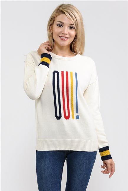 a2e3c64e70 Suéteres · ST7028 OUI! JQD Pullover Sweater
