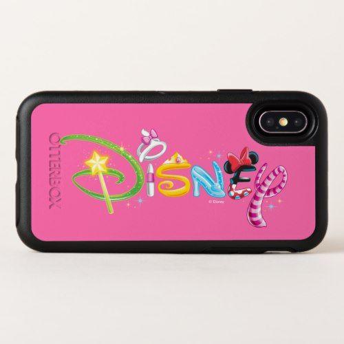Disney Logo   Girl Characters OtterBox Symmetry iPhone X Case