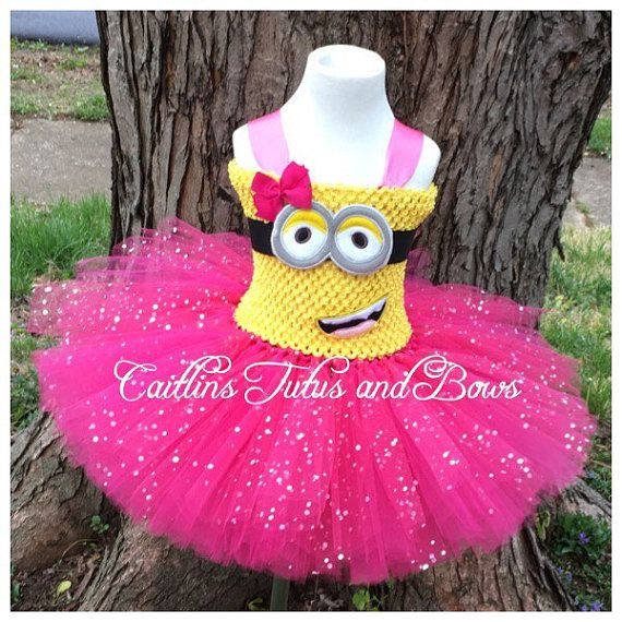 Pink Minion Tutu Dress Pink Minion tutu by CaitlinsTutusandBows