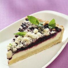 Borůvkový koláč s tvarohovou náplní
