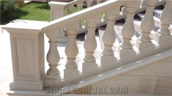 Stone balustrade staircase