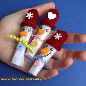 Sněhuláci z rukavice
