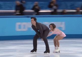 Olympic Moments ~ Megan Duhamel and Eric Radford of Canada...Their unique lift as performed in Sochi, February, 2014 ~ Animated Pin