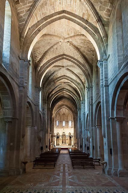 Real Monasterio cisterciense de Santa Maria de Veruela, Vera de Moncayo. Cistercian architecture, simple but dignified.