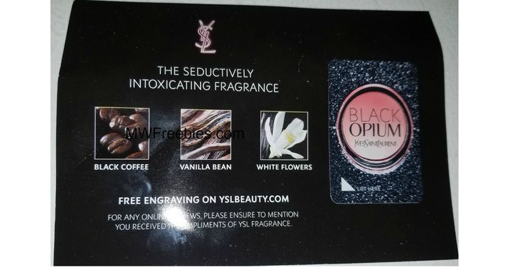 "Still Available! I Just Received Mine! FREE Yves Saint Laurent Black Opium Fragrance Sample! (Cell Phone Required) -    Yves Saint Laurent Black Opium Fragrance Sample! Seduction in fragrance. The addictive scent of rich coffee, white flowers, and vanilla. Go ahead, indulge! Here's how to get your freebie:    Click On The Link Above. Click ""Claim Free Sample"" Button. Fill Out Form and... - http://www.mwfreebies.com/2018/02/20/free-yves-saint-laurent-bla"