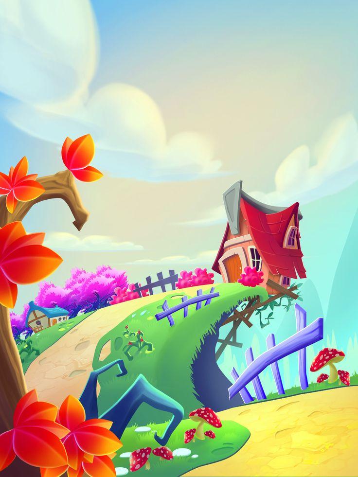 Mobile Game Background #7, Lan Nguyen on ArtStation at https://www.artstation.com/artwork/GkXGV