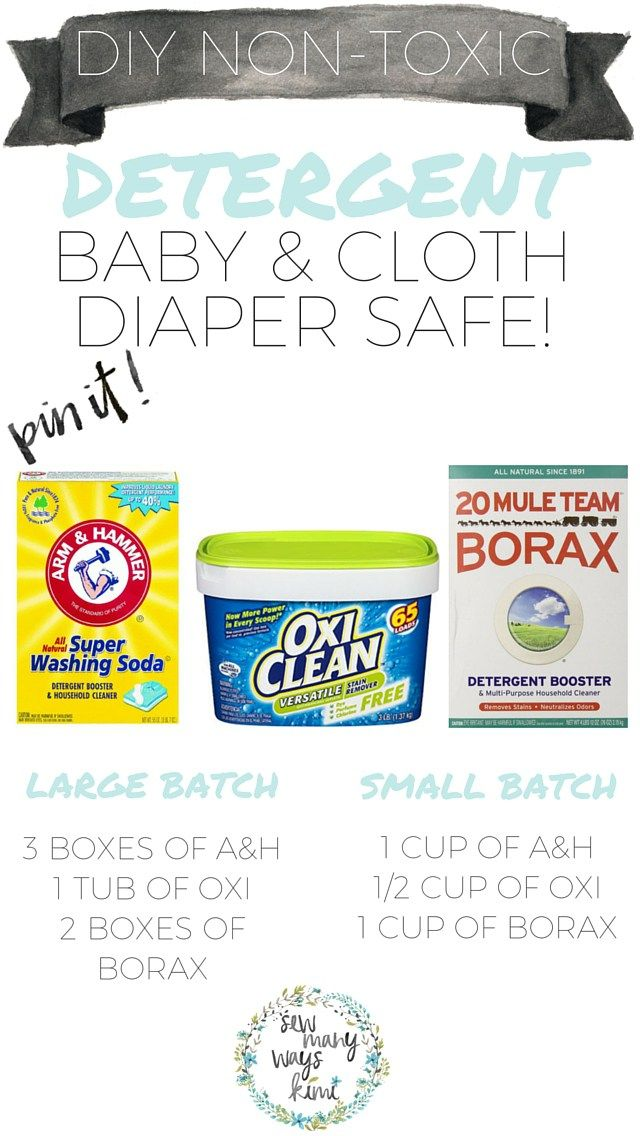 DIY Baby Detergent & Cloth Diaper Detergent! Very easy and simple to make, also includes printable friendly washing instructions for cloth diapers which will be easy for Grandmothers and Dads! This detergent will last a while in the large batch! Oh ya, and did I mention its cloth diaper safe :) SewManyWaysKimi