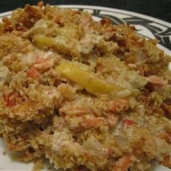 I made this for work and it was a huge hit! Unbelievable Squash Casserole Allrecipes.com
