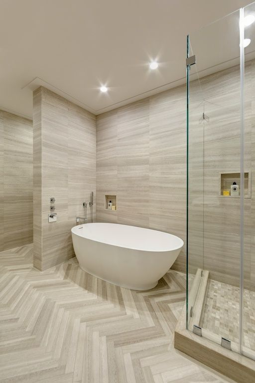 Modern Master Bathroom With Artistic Tile Vestige Cloud