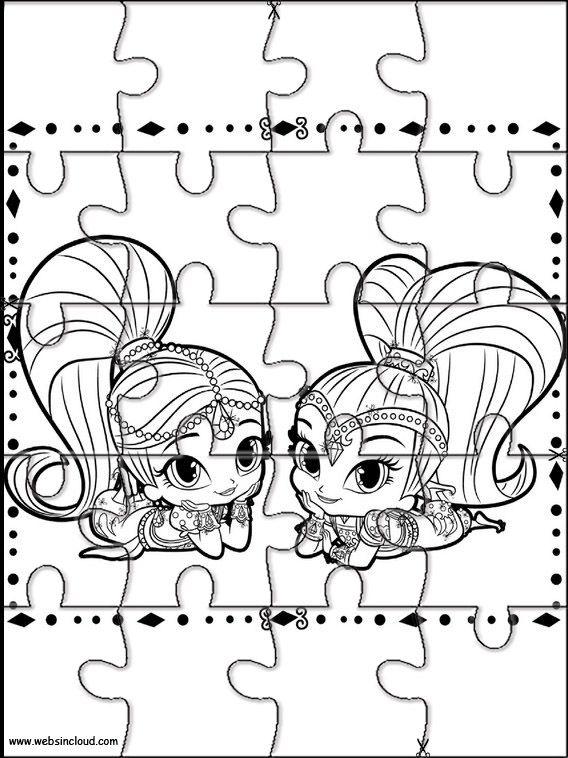 Puzzle Da Stampare Shimmer E Shine 2 Amache Puzzle