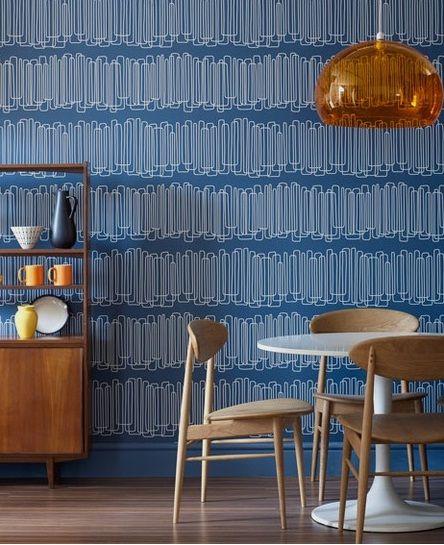 Modern Wallpaper In Dining Room