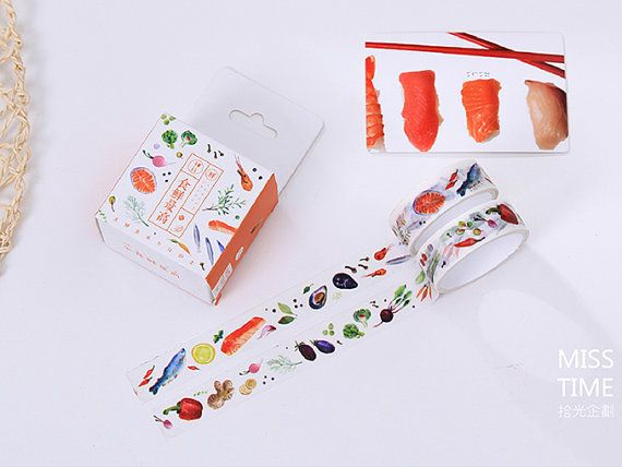 Fresh Food Washi Tape Set 2 pcs Japanese Stationery by TinyBees