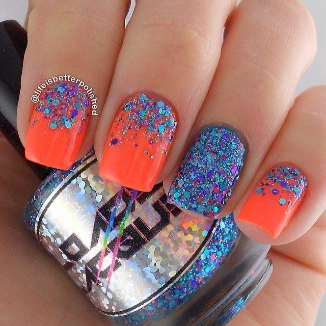 60 Glitter Nail Art Designs #nail #nails #nailart