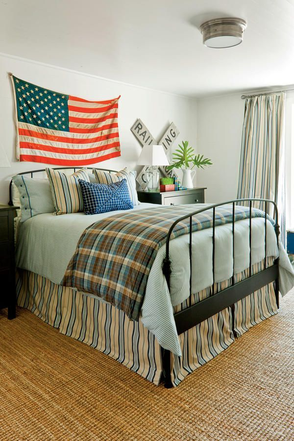 Americana Bedroom Farmhouse Restoration Idea House Tour