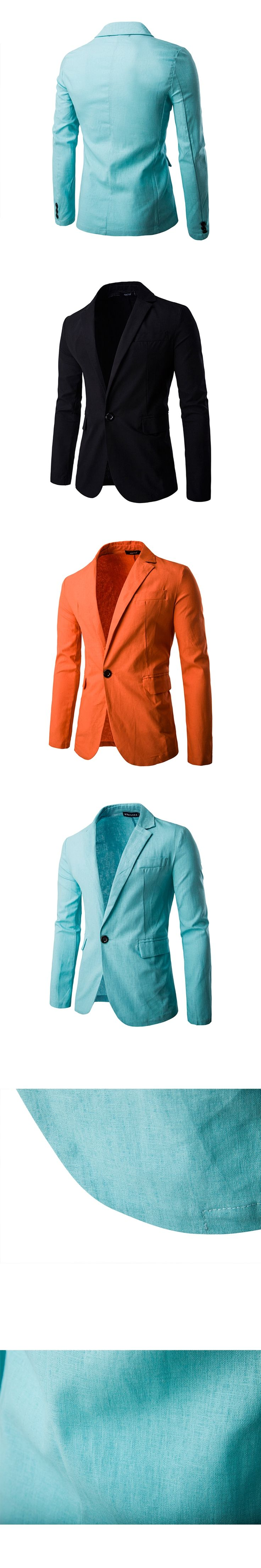 2016 HOT Casual Slim fit  Stylish Single Botton Suit Blazer Mens Coat Male Fashion  Formal Clothing Long  Sleeve PX24