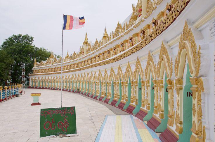 U Min Thonze pagoda in Sagaing Hill, Myanmar