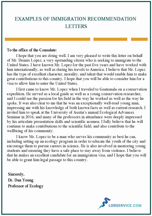 40 Reference Letter For Immigration Reference Letter Reference