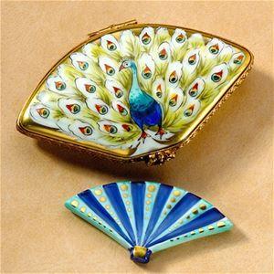 Limoges Peacock Fan Box.