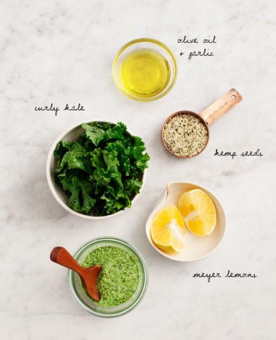 Nut-Free Hemp Seed & Kale Pesto Recipe