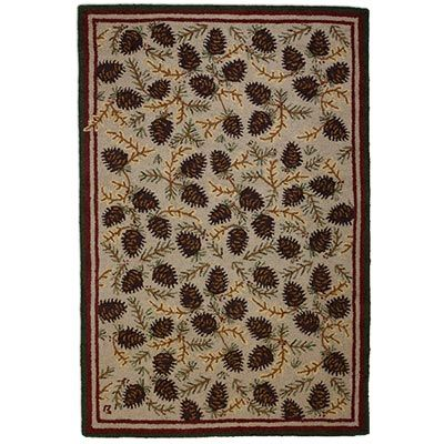 Northwood S Cones Hooked Wool Rug Features A Vast Array Of Pine That Has The Look And Feel Themed