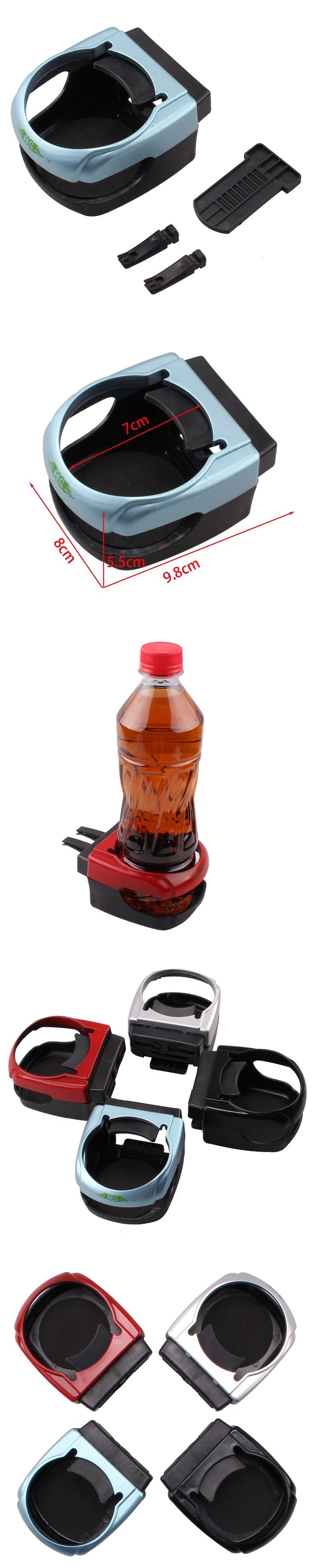 New Arrival In-Car Cup Bottle Stand Auto Drink Cup Holder Car Air Condition Vent Drinking Cola Bottle Mount Phone Holder 4 Color