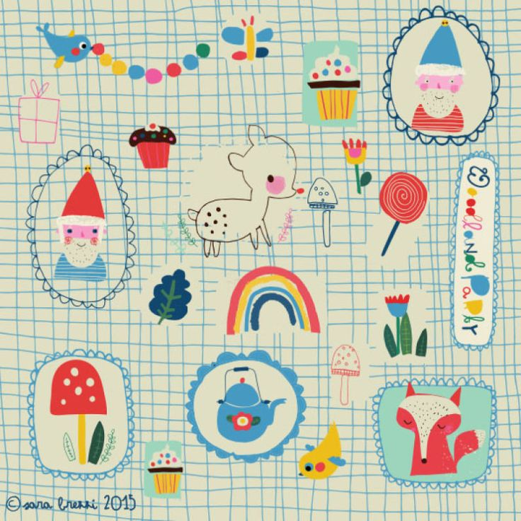 Woodland Party Pattern | Licensing | Drawn to better | Astound.us