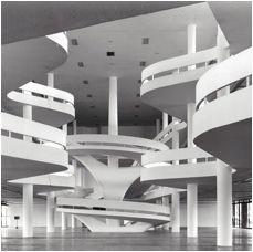 Prédio da Bienal, Parque Ibirapuera - 1954, Arqtº Oscar Niemeyer