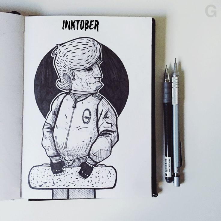 -29- #inktober #ink #illustration #inktober2015 #comics  #character #caricature #sketchbook #gutaart #sketch #topcreator #skate #mask #halloween #graffiti #IllustrationCat