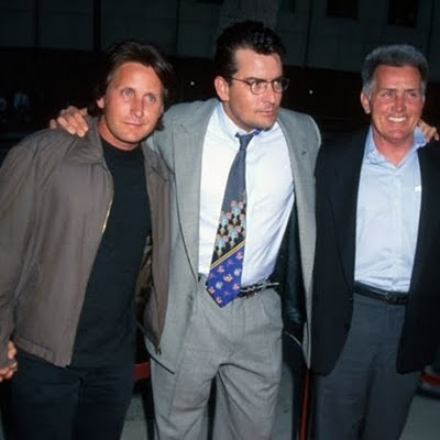 Martin Sheen & sons,Charlie Sheen and Emilio Estevez