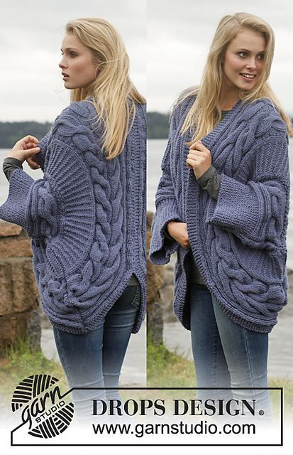 Ravelry: 149-6 Barroque - Jacket worked in a circle with cables in Alaska pattern by DROPS design