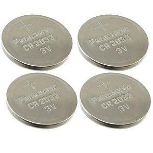 Price: $4.40 [ 4 pcs ] -- Panasonic Cr2032 3v Lithium Coin Cell Battery Dl2032 Ecr2032
