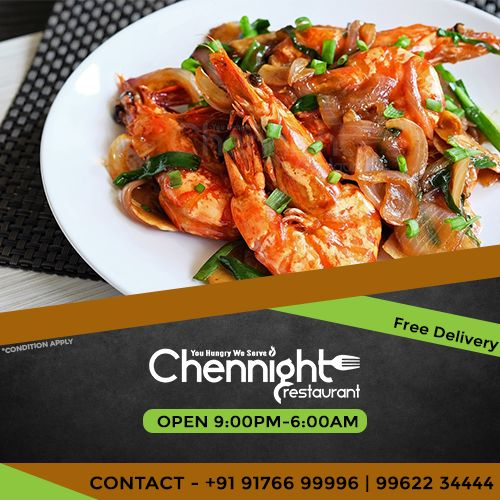 Bang your night get-together with #Chennight Get 30%off on your first online order. Late night food Order @  Chennight #latenightfoodorderchennai #midnightdeliverychennai #shenoynager #annanagar #orderfoodonline #midnightcombo #prawnfry #chennight #freedeliverychennai #takeaway #latenightfoodvelachery #latenightfoodomr #OMRfooddelivery #latenightrestaurants