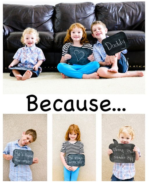 Awesome Father's Day Picture And Gift idea.  Could also do for moms or grandparents.