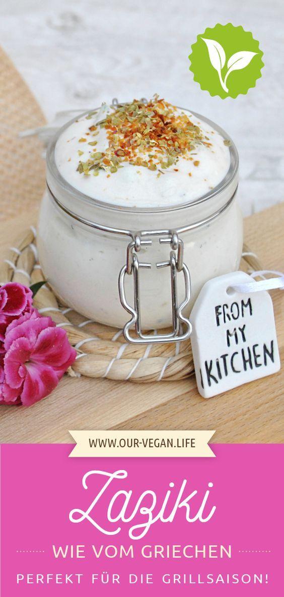 Rezept für veganes, griechisches Zaziki