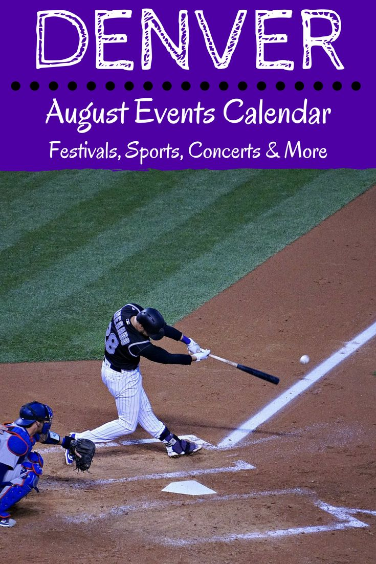Find fun things to do in Denver on the August events calendar. Highlights include outdoor concerts, festivals, sporting events, theater and more!