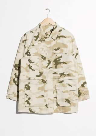 & Other Stories   Camo Army Jacket