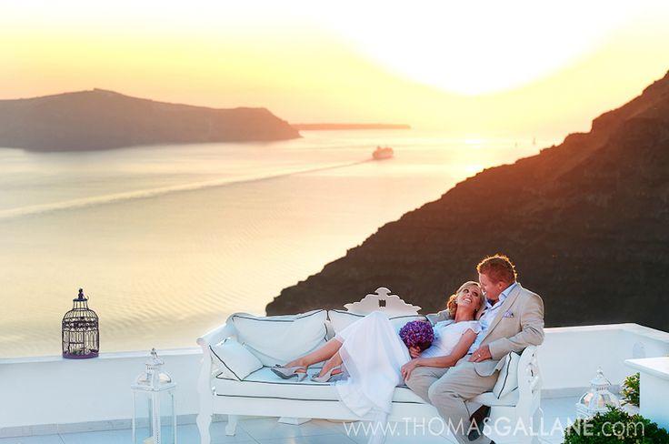 Breathtaking Santorini Sunsets