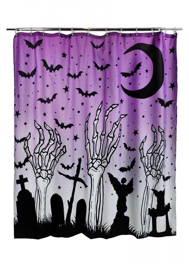 Rat Baby S Moon Child Spirit Board Purple Ouija Shower Curtain
