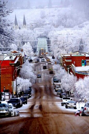 Medicine Hat, Alberta Canada Winter