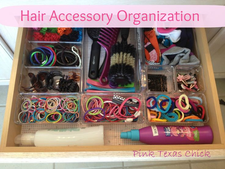Organized Hair Accessories using Linus bins from The Container Store  #containerstore