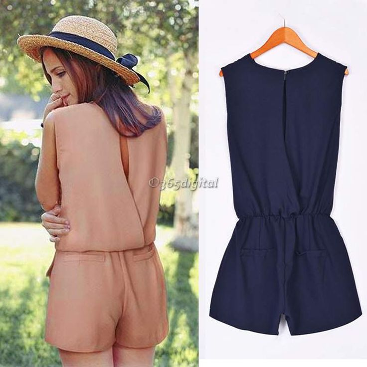 New Summer Women Ladies Playsuit Party Casual Lady Jumpsuit&Romper Trousers 35DI in Clothes, Shoes & Accessories, Women's Clothing, Jumpsuits & Playsuits | eBay