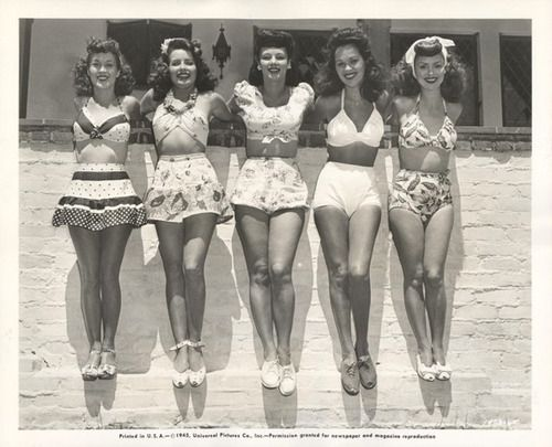 girlfriends-vintage: Vintage Swimsuits, Beaches, Girls, Style, Bikinis, Vintage Bath Suits, Vintage Beautiful, Bath Beautiful, 1950