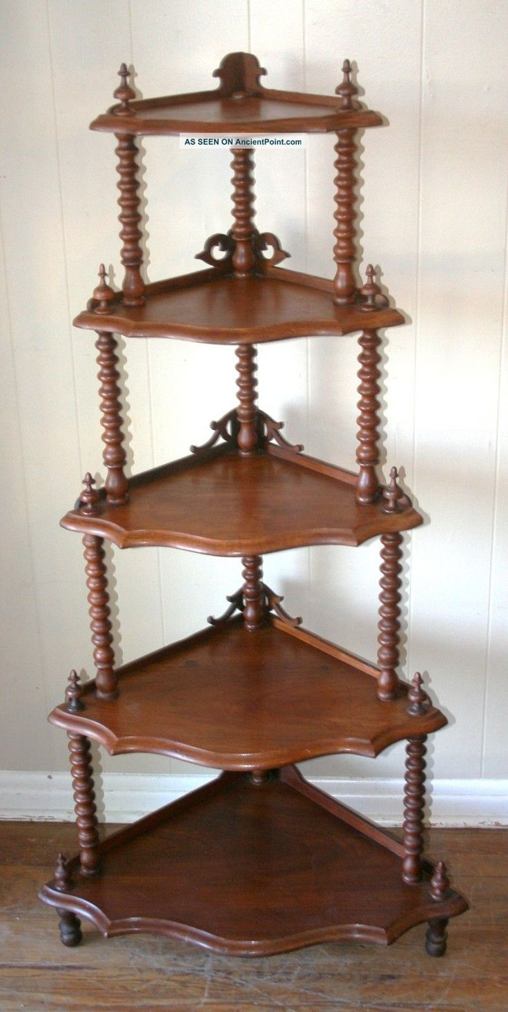 Exceptional Exquisite English Antique Walnut Barley Twist Corner Cabinet 1900 1950  Photo. Corner CabinetsWood Side TablesAntique FurnitureTwists