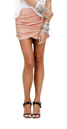 Stylestalker bridget skirt in black or nude $99 | threads and style