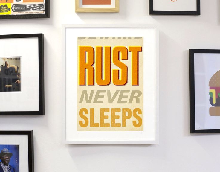 Rust Never Sleeps 40 x 50cm giclee print by kandyprintshop on Etsy https://www.etsy.com/listing/206659622/rust-never-sleeps-40-x-50cm-giclee-print