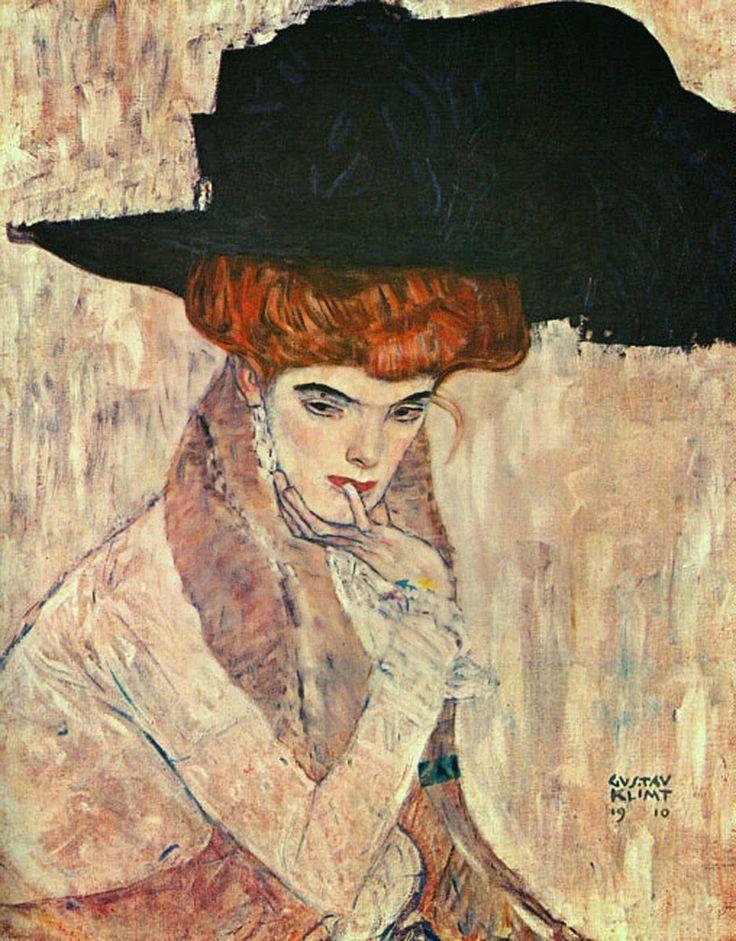 Μαύρο καπέλο με φτερό (1910)