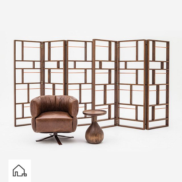 O Biombo Aureo divide qualquer ambiente com design e criatividade, e até serve de porta revistas. www.estudiobola.com
