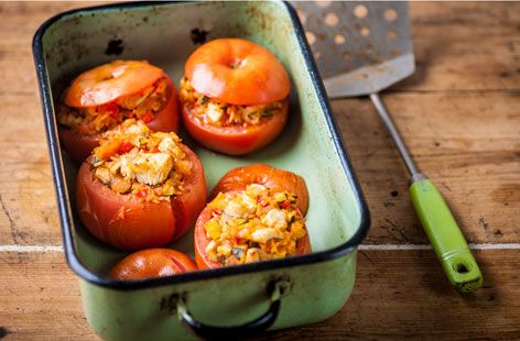 Adam Byatt's turkey-stuffed tomatoes