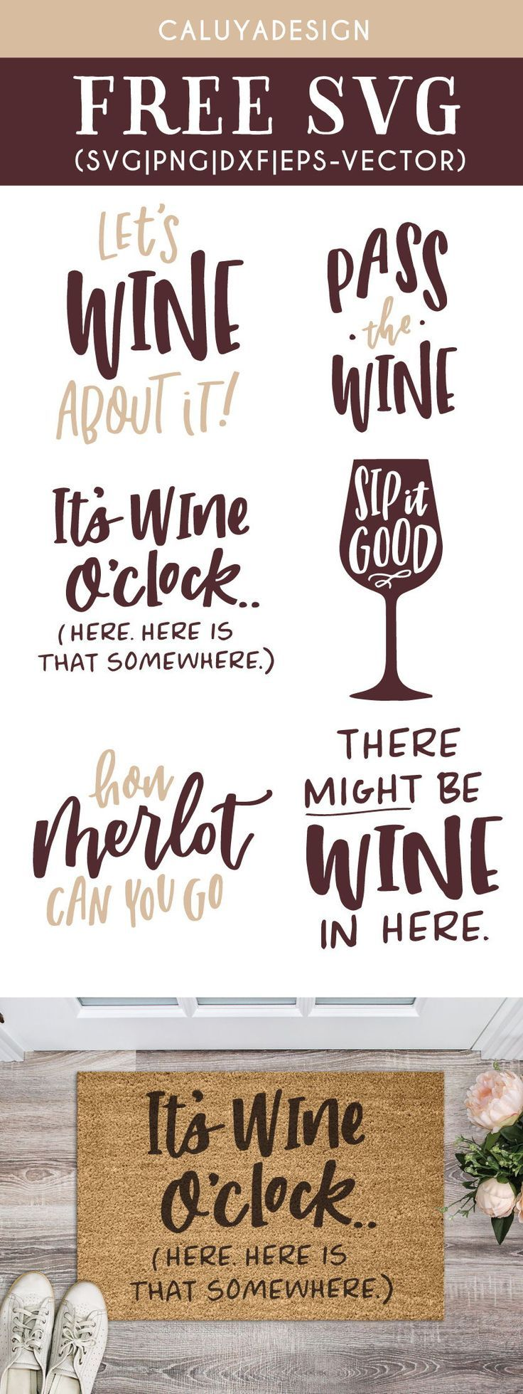 Free Wine Quote Bundle SVG, PNG, EPS & DXF by Wine